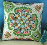 Christmas Kaleidoscope Mini Cushion Cross Stitch Kit