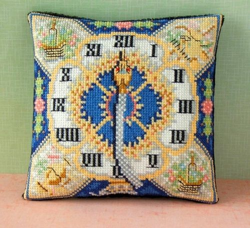 2fae0cfcc5b1 Blue Serpent Clock inspired by Fabergé Mini Cushion Cross Stitch Kit -  Sheena Rogers Designs