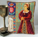 Catherine Howard Mini Cushion Cross Stitch Kit