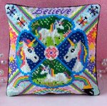 Unicorns Mini Cushion Cross Stitch Kit