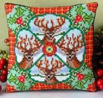 Christmas Stags Mini Cushion Cross Stitch Kit