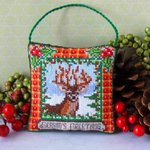 Christmas Stag Hanging Decoration Cross Stitch Kit