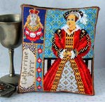 Catherine Parr Mini Cushion Cross Stitch Kit