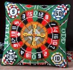 Roulette Mini Cushion Cross Stitch Kit