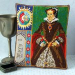 Mary I Mini Cushion Cross Stitch Kit