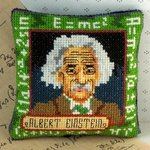 Albert Einstein Pincushion Cross Stitch Kit