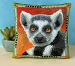 Lemur Mini Cushion Cross Stitch Kit