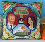 Harry, Meghan and Archie Mini Cushion Cross Stitch Kit