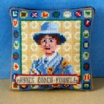 Agnes Baden-Powell Pincushion Cross Stitch Kit