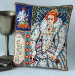 Elizabeth I Triptych Mini Cushion Cross Stitch Kit