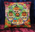 Pumpkin Party Mini Cushion Cross Stitch Kit