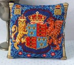 Henry VIII Armorial Panel Mini Cushion Cross Stitch Kit