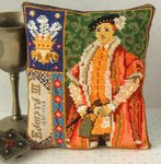Edward VI Triptych Mini Cushion Cross Stitch Kit