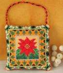 Poinsettia Hanging Decoration Cross Stitch Kit