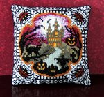 Halloween House on the Hill Mini Cushion Cross Stitch Kit