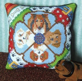A Dog's Life Mini Cushion Cross Stitch Kit