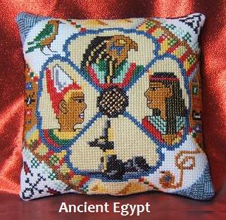 Ancient Egypt Mini Cushion Cross Stitch Kit