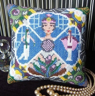 Art Deco Delight Mini Cushion Cross Stitch Kit