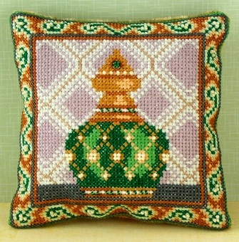 Emerald Mini Cushion Cross Stitch Kit