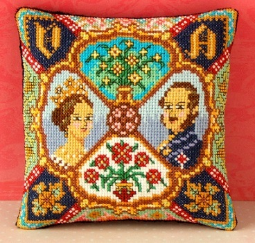 Victoria_and_Albert_Mini_Cushion_Cross_Stitch_Kit