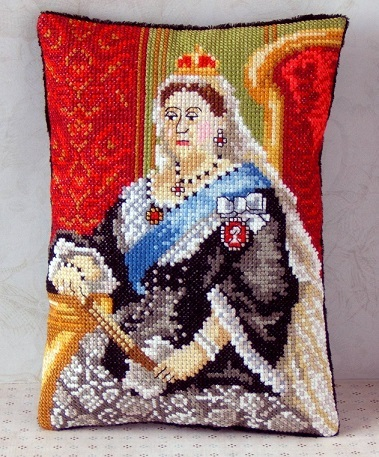 Queen_Victoria_Mini_Cushion_Cross_Stitch_Kit