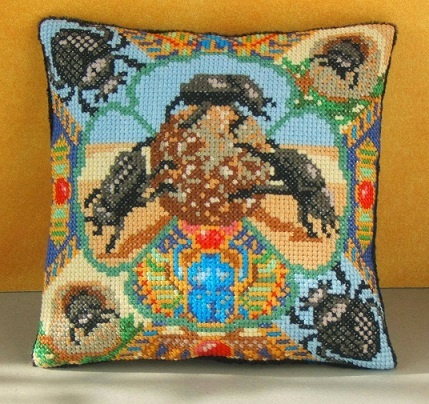 Dung_Beetles_Mini_Cushion_Cross_Stitch_Kit