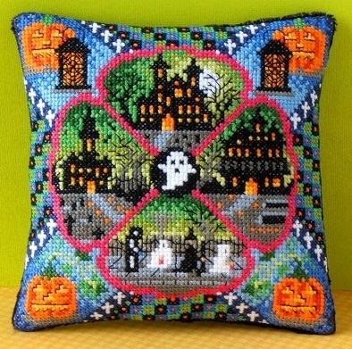 Halloween_Village_Mini_Cushion_Cross_Stitch_Kit