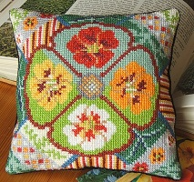 Nasturtium Splendour Mini Cushion Kit