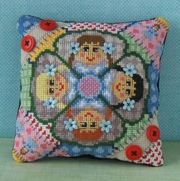 RicRac Ragdolls Mini Cushion Cross Stitch Kit