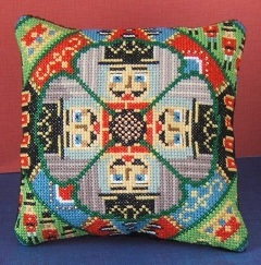The Nutcrackers Mini Cushion Cross Stitch Kit
