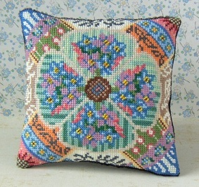Forget-me-nots Cross Stitch Mini Cushion Kit