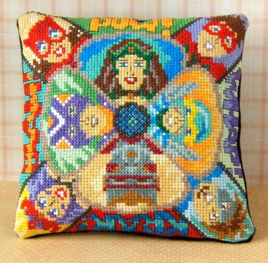 Comic Superheroes Mini Cushion Cross Stitch Kit