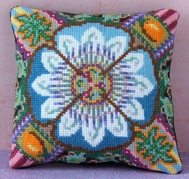 Passion Flower Mini Cushion Cross Stitch Kit