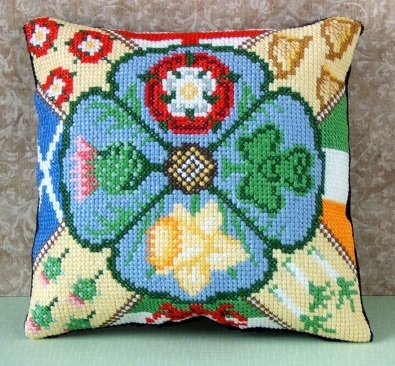 England, Ireland, Scotland, Wales Mini Cushion Cross Stitch Kit