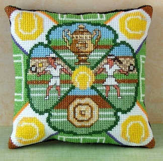 Anyone for Tennis Mini Cushion Cross Stitch Kit