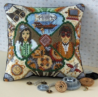 Steampunk Mini Cushion Cross Stitch Kit