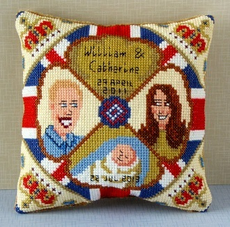 William, Kate & Baby Mini Cushion Cross Stitch Kit
