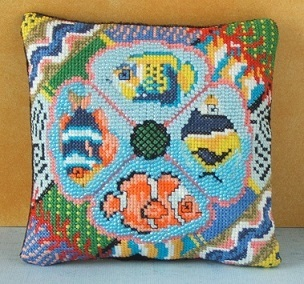 Tropical Fish Mini Cushion Cross Stitch Kit
