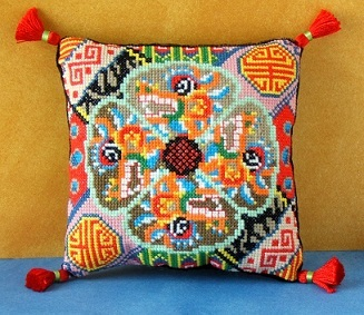 Chinese Dragon Mini Cushion Cross Stitch Kit