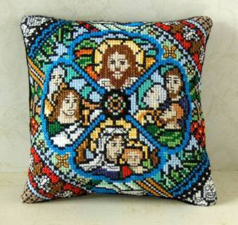 Stained Glass Mini Cushion Cross Stitch Kit