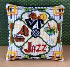 All that Jazz Mini Cushion Cross Stitch Kit