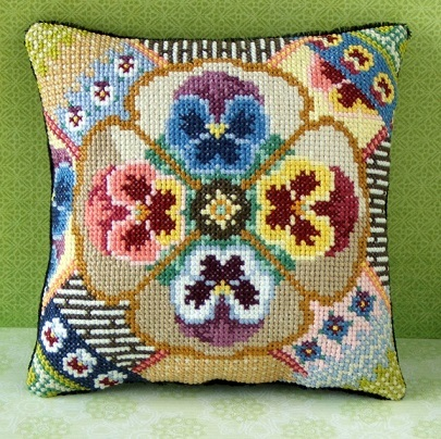 Posy_of_Pansies_Cross_Stitch_Kit