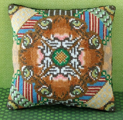 Eye of the Tiger Mini Cushion Cross Stitch Kit