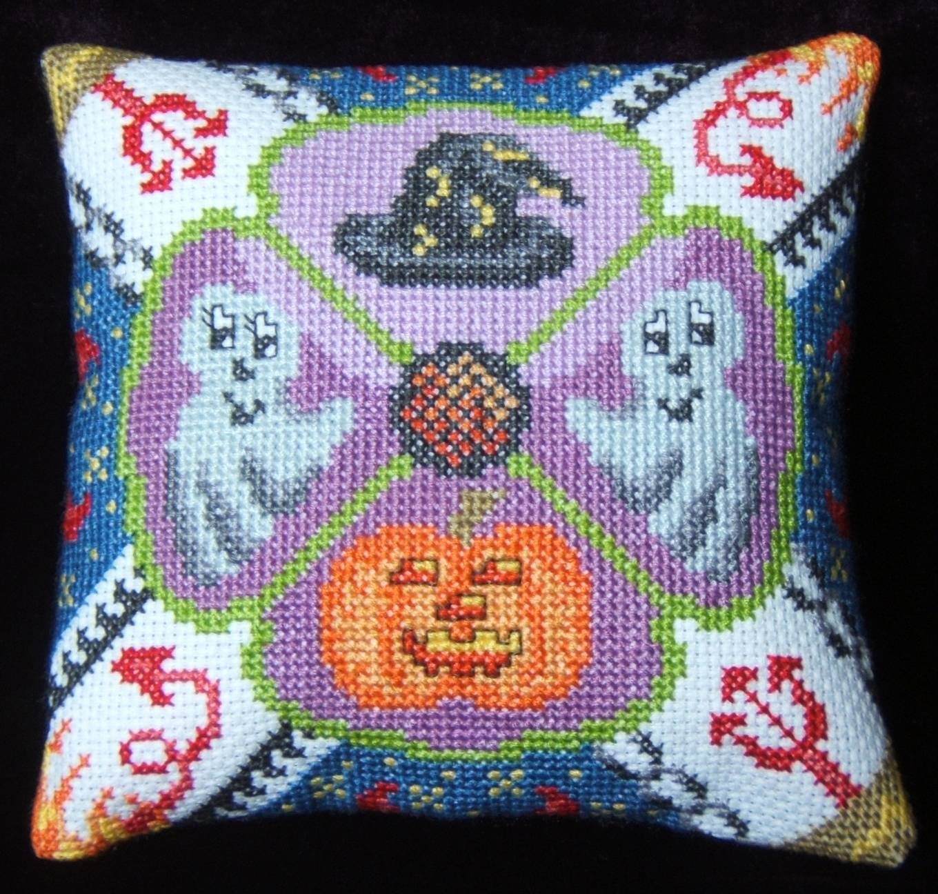 Halloween Party Mini Cushion Cross Stitch Kit