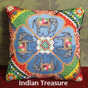 Indian Treasure Mini Cushion Cross Stitch Kit