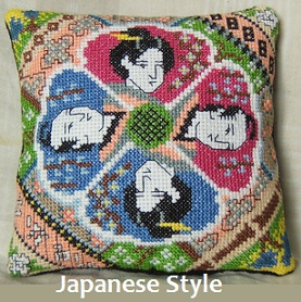 Japanese Style Mini Cushion Cross Stitch Kit