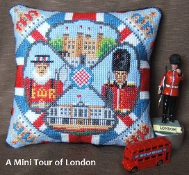 A Mini Tour of London Mini Cushion Cross Stitch Kit
