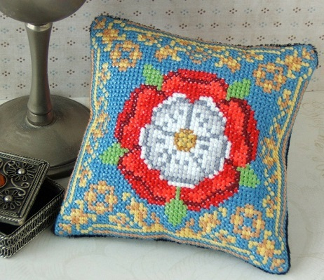 Tudor_Rose_Pincushion_Cross_Stitch_Kit