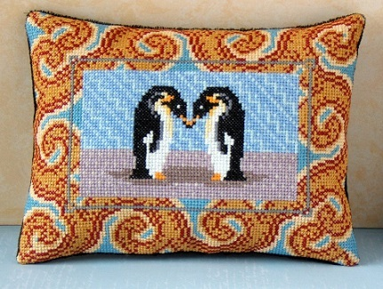 Loving_Penguins_Mini_Cushion_Cross_Stitch_Kit