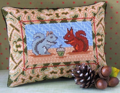 Sweet_Squirrels_Mini_Cushion_Cross_Stitch_Kit